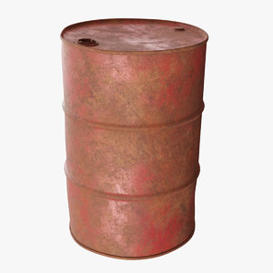 old rusty oil barrel 3D model