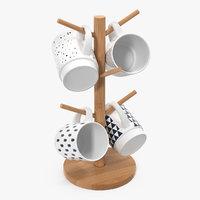 Kitchen Mug Tree Stand Set