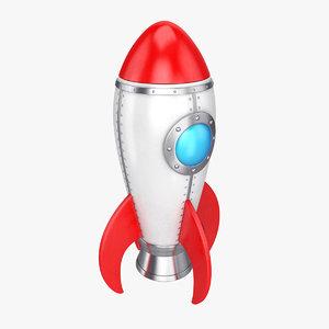 3D model cartoon rocket