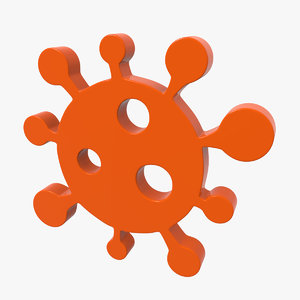 3D coronavirus icon model