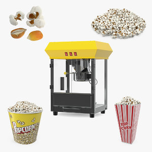 popcorn 2 3D model