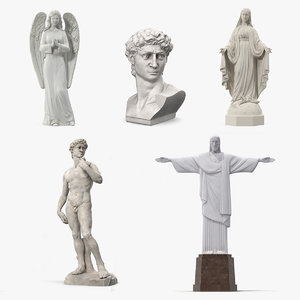 stone statues 4 model