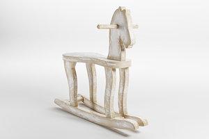 3D wood horse