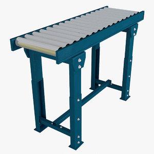 3D roller conveyor industrial