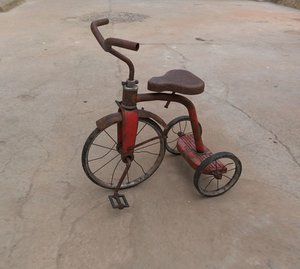 3D old tricycle
