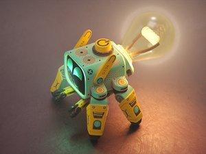 3D model cute bot