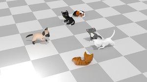 3D cat chibi