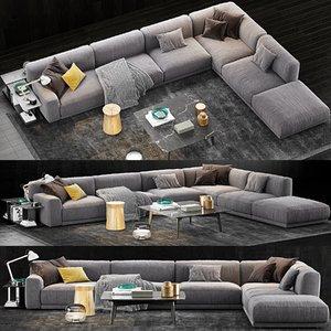 3D poliform paris seoul sofa