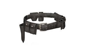 3D police belt gun holster