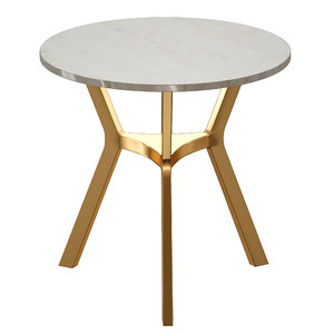 3D table marble brass elke