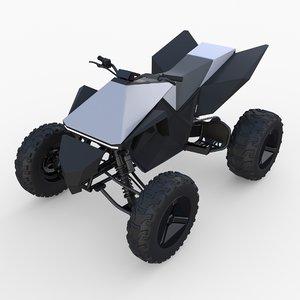 3D tesla cyberquad atv quads