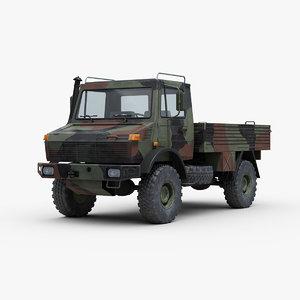 3D unimog u1300l truck