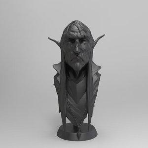 bust portrait 3D model