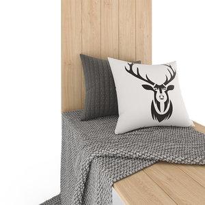 3D blanket pillows window