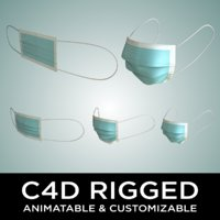Rigged Face Mask - Animatable and Customizable