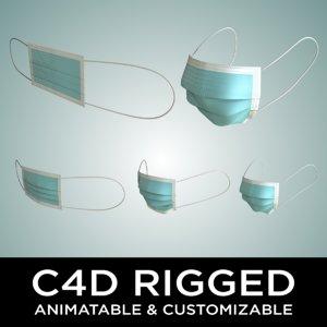 customizable animatable face mask 3D