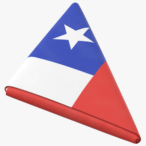 flag folded triangle chile model