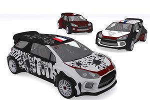 custom design rally car model