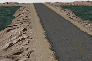 3d model pro road terrain pack