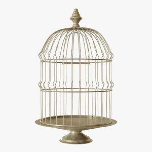3D vintage bird cage