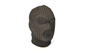 ski face mask terrorist 3D model