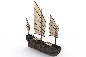 3D model ancient ship