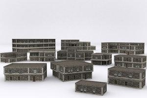 3D old building v3