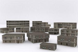 3D model old building v5