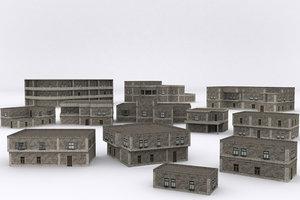 3D old building v4