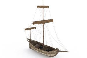 3D ancient ship