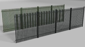 fencing gate metallic model