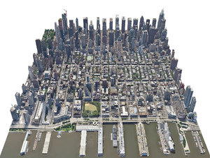 3D new york city manhattan model