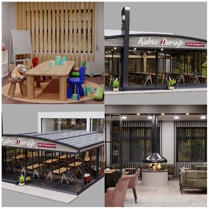 corona restaurant amp cafe 3D model