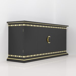 chest drawers credenza 3D model