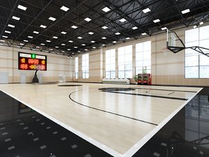 interior scene basketball court 3D model