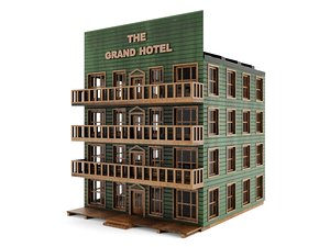 hotel - old wood 3D