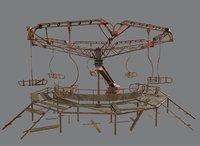 Abandoned Merry-Go Round-Ferris wheel in Chernobyl