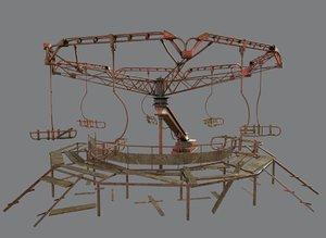 3D model abandoned merry-go chernobyl