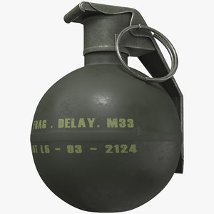 grenade m33 3D model
