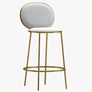 nika zupanc stay bar stool 3D model