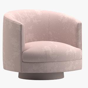 3D swivel tub chairs rosa