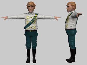 stylized lieutenant 3D model