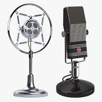 2 Retro Microphones Collection