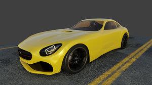 3D mercedes amg gt model
