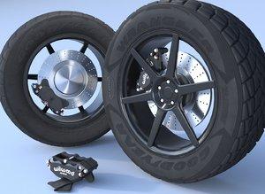 tires bpr set 3D model