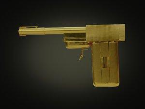 3D 007 golden gun