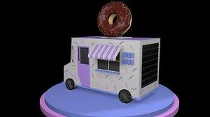 donut truck 3D model