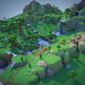 3D floating forest model