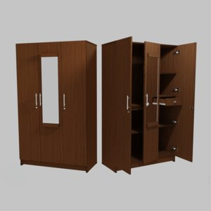 wardrobe real world door 3D