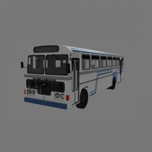lanka ashok layland bus 3D model